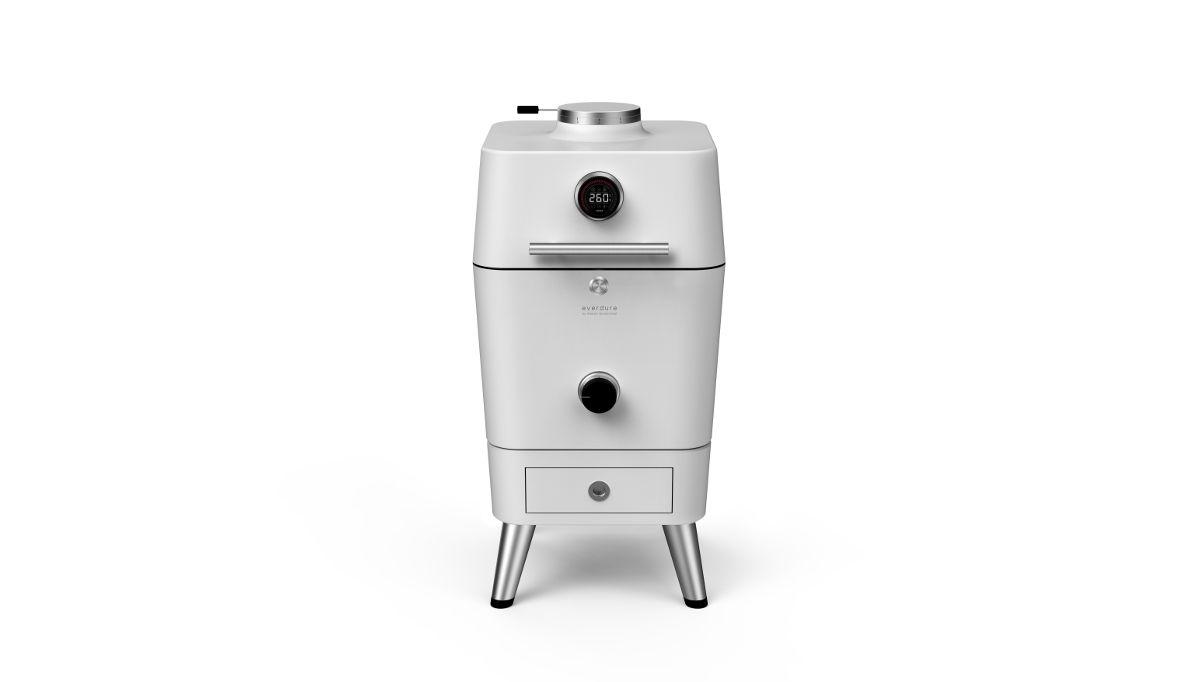 4K - מעשנת פחם הצתה חשמלית - לבן