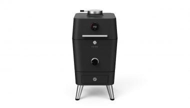 4K - מעשנת פחם הצתה חשמלית - אפור